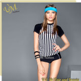 Flexible Sport Tankini Shorts and T Shirt Swimwear