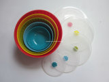 LFGB/FDA 5PCS Plastic Rainbow Bowl (MS006)