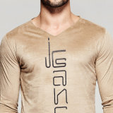 Custom Silk Screen Printing Suede T-Shirt