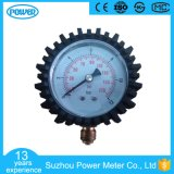 63mm Bar Black Steel Pressure Gauge with Rubber Cover