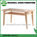 Pine Wood Taper Leg Double Layer Dining Table