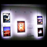 Hot Seller LED Slim Acrylic Crystal Light Box Picture Frame