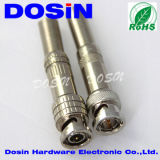 Nickel Plated Spring BNC Male Coaxial Connector for CCTV Camera