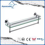 Wall Mount Chromed Stainless Steel Glass Shelf (AA9619B)