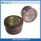 Small Round Tin Box with PVC Window