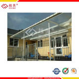 Polycarbonate Hollow Sheet Awning, Roofing Material - Certified by ISO9001: 2000