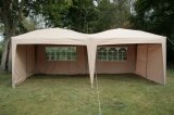 6X3mtr Fully Waterproof Pop up Gazebo Beige with Six Side Panels and Carrybag