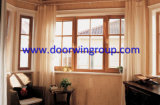 Excellent European Style Aluminium Clad Wood Window, Composite Window with Beautiful Vertical Light Grille