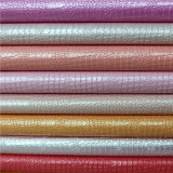 China Wholesale Colorful PU Material Artificial Leather