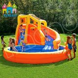 Customized En14960 Certificate Inflatable Outdoor Playground Water Slide with Pool