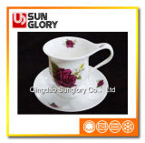 Customized Bone China Cup and Saucer of Bd020
