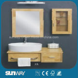 2015 Solid Wood Bathroom Furniture with Sink