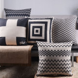 Cotton Linen Print 18X18 Inch Throw Pillows for Couch