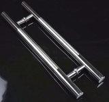 Polish+Satin Stainless Steel H Straight Glass Door Handle Hinge
