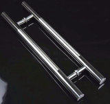 Polish+Satin Stainless Steel Hinge H Straight Glass Door Pull Handle