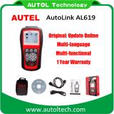 100% Original Autel Autolink Al619 ABS/SRS + Can Obdii Diagnostic Scan Tool Autel Al 619 Update Online Auto Link Al-619