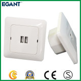 Clasically Designed USB Wall Socket for Northern European Market, White, 3.4A
