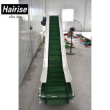 Hairise Plastic Inclined Belt Conveyor with Baffer for Food Industry