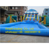 Giant Cheap Inflatable Water Slide with Pool