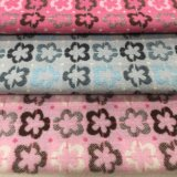 Plum Blossom Style Jacquard Wool Fabric Stock