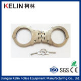 Double Lock System Hc-03W Carbon Steel Handcuff for Police