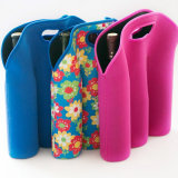 Three Bottle Neoprene Wine Bottle Sleeve Holder Cooler