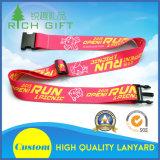 Promotional Custom Logo Adjustable Sublimation Polyester Luggage Strap