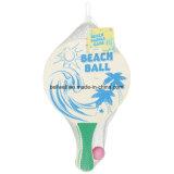 Surf Classic Beach Ball Tennis Wooden Paddle Game Great for Beach, Backyard, Garden Beach Racquet