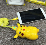 Lovely Gifts Design Mobile Power Bank with Pikachu Charming Voice