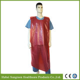 Disposable Waterproof PE Vest Gown, PE Smock