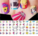 Unicorn Decal Eyes Rainbow Pattern Nail Art Stickers Nail Sticker