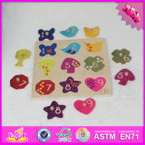 2017 Wholesale Baby Wooden Custom Shape Puzzle, Funny Kids Wooden Custom Shape Puzzle, Wooden Custom Shape Puzzle W14m115