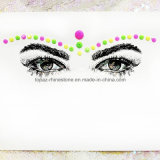Self Adhesive Acrylic Rhinestone Sticker for Head Jewelry (S011)