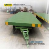 Factory Using Flatbed Transfer Trailer for Transportation
