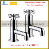 Bathroom Brass Twin Water Basin Sink Tap