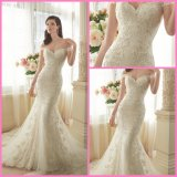 Mermaid off-Shoulder Bridal Gowns Lace Tulle Beaded Wedding Dresses Y11634