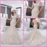 Cascading Bridal Wedding Gown Beaded Mermaid Lace Wedding Dresses PA21502