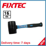 Fixtec Hand Tool 16oz Rubber Hammer with Fiber Handle