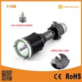 Aluminum Torch Light with Hammer and Belt Cutter