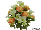 Artificial/Plastic/Silk Flower Rose/Lily Mixed Bush (2918078)