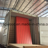 Red Color Melamine MDF with 7 Grooves Slot