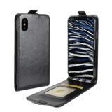 Retro PU Mobile Phone Flip Case for iPhone X-Black