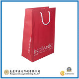 Pink Commodity Paper Shopping Bag with Cotton Rope (GJ-Bag100)