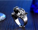 316L Stainless Steel Titanium Tiger Head Ring