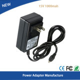 Wholesale 15V 1A 5.5mm*2.1mm Wall Charger Power Supply