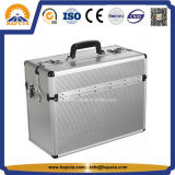 Silver Aluminium Pilot Vanity Case with Shoulder Strap (HP-3206)