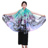 Chinese Style Classic Printed Polyester Large Scarf