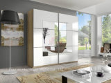Simple and Elegant Wooden Sliding Wardrobe Closet (HF-EY08112)
