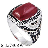 New Models 925 Silver Men Rings Micro Seting CZ with Stone.