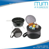 Hot Sale Camping Mini Portable BBQ Grill with Cooler Bag